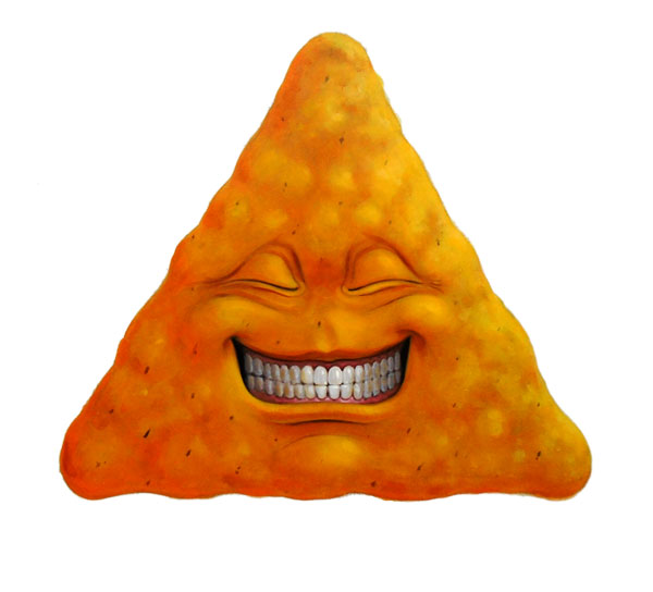 dorito with cheesy smile