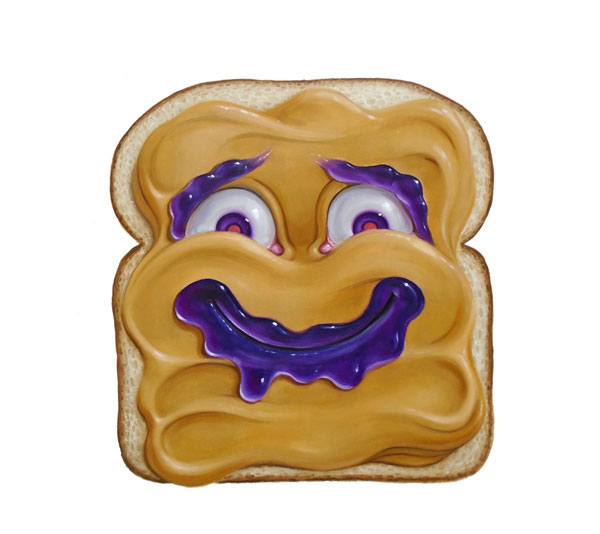 Stephen Gibb Canadian Pop Surrealism - peanut butter on bread