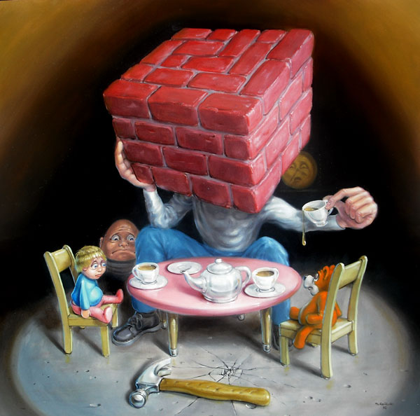 Stephen Gibb - Brick head, tea party