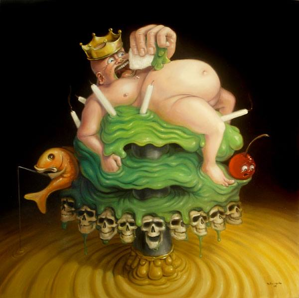Stephen Gibb - Fat king, naked emperor, cake