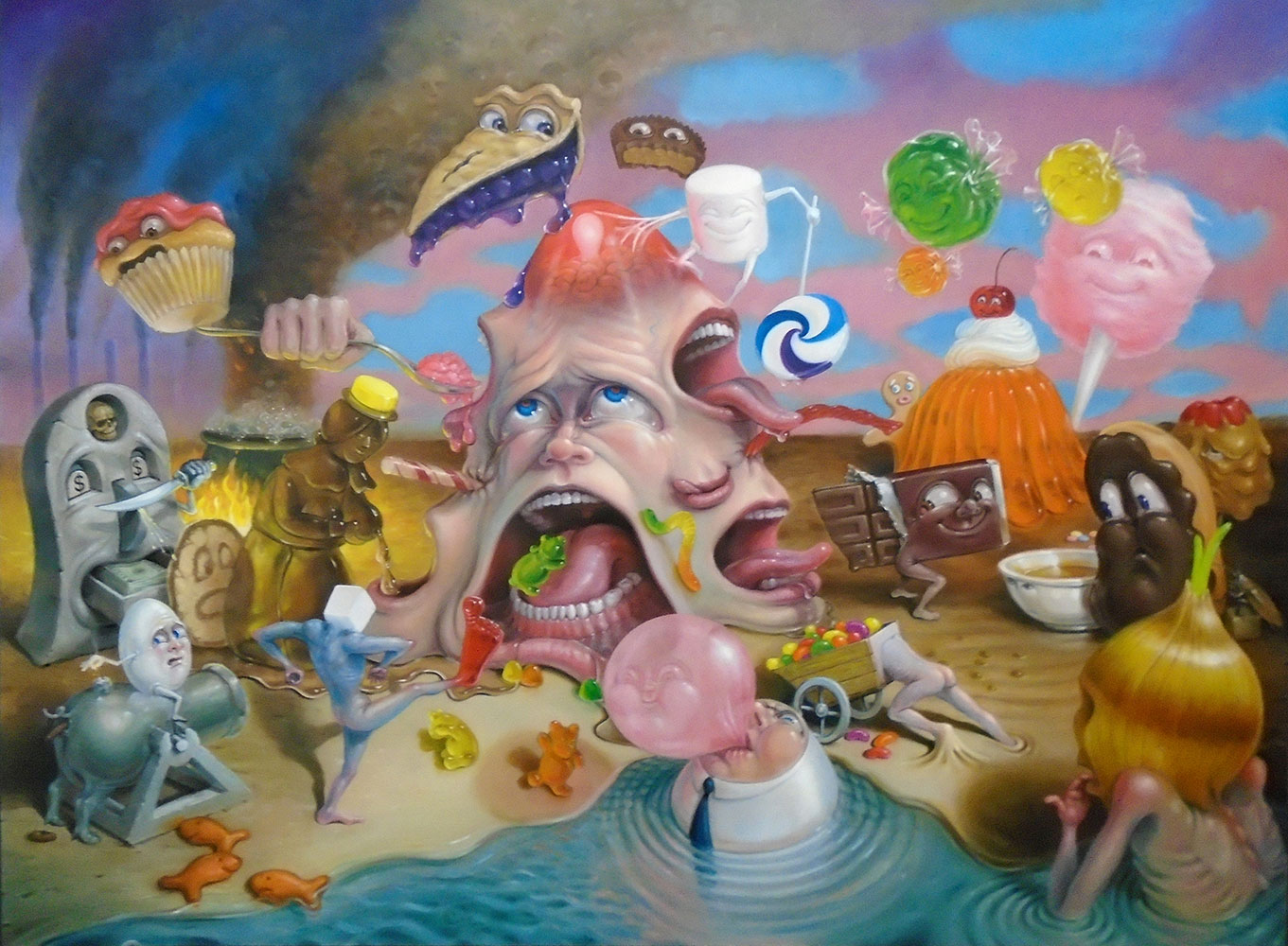 Surrealism and Pop Surrealism Paintings by Stephen Gibb