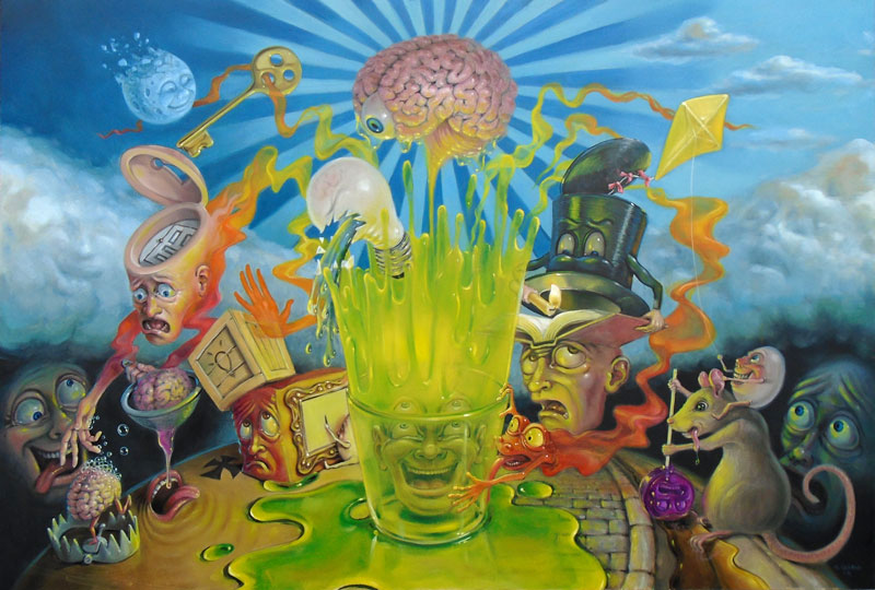 mind-bending Canadian surrealist painter