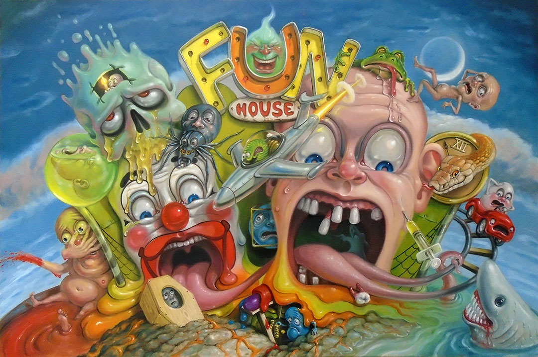 Surreal art of Fun House