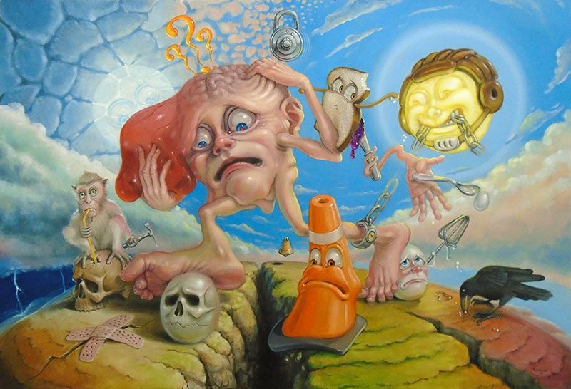 surrealism painting by Stephen Gibb