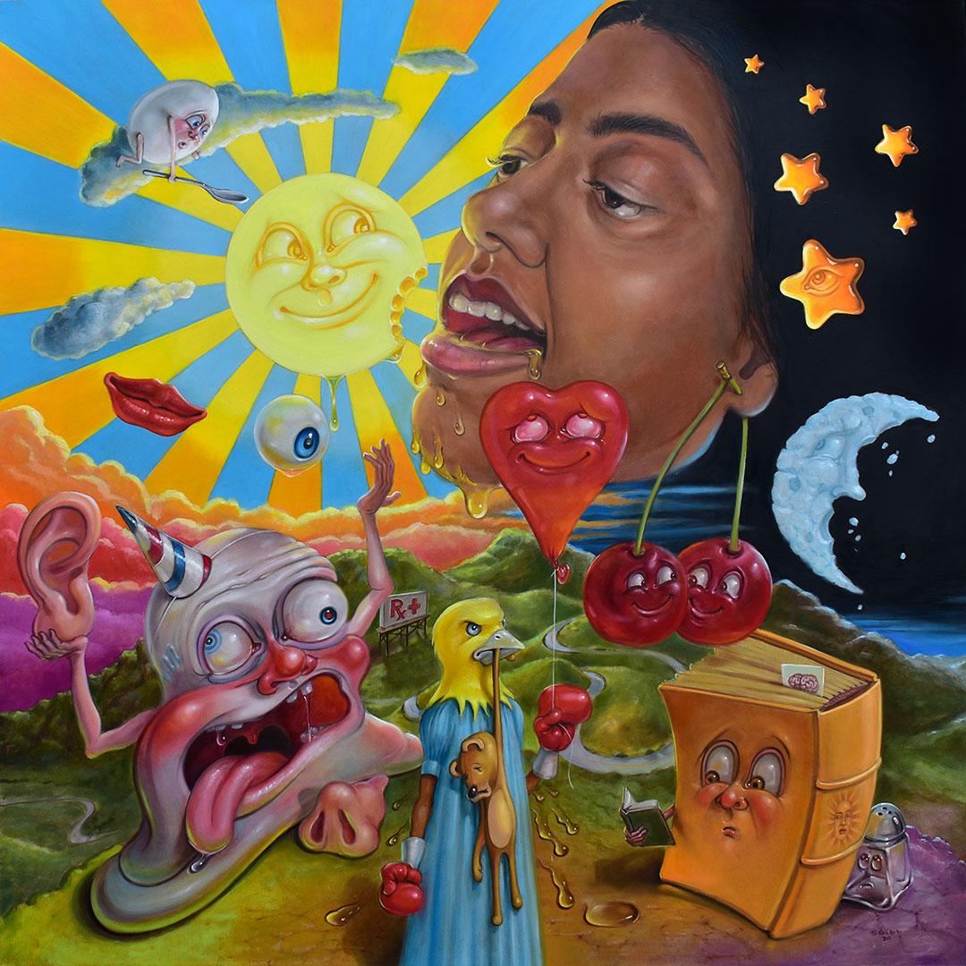 Girl Eats Sun - Hope Tala Album Art by Stephen Gibb