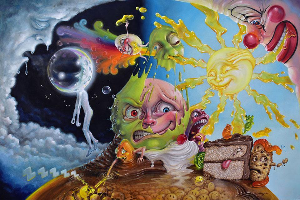 Canadian artist Stephen Gibb — surrealism painting