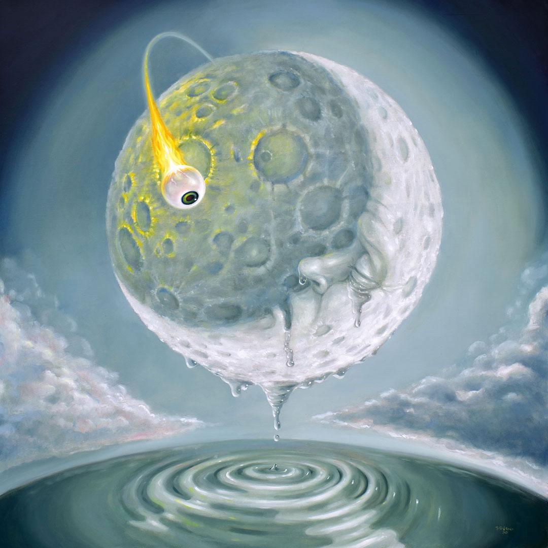 pop surrealism moon